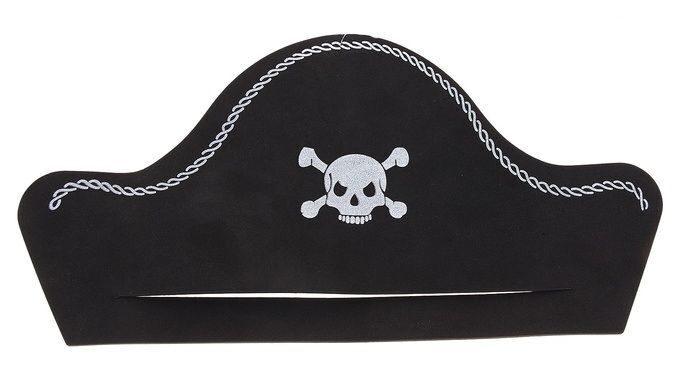 Пиратская шляпа из бумаги своими 22